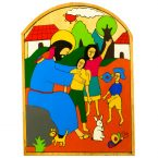 44. Christ with the Children Plaque 14 x 19cm