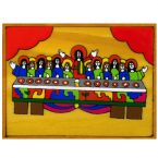 55. Last Supper Plaque 12 x 9cm