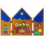61. Triptych Crib 25 x 18cm