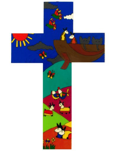 11 Noahs Ark cross  - Available in 15cm, 25cm