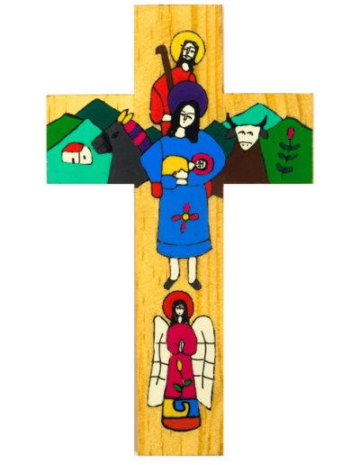 12 Holy Family cross  - Available in 15cm, 25cm