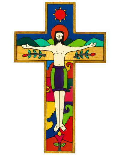 4 Crucified Christ cross - Available in 15cm, 25cm, 40cm, 63cm