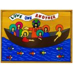 40. Love One Another Plaque 20 x 15cm