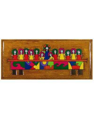 41/32 Last Supper plaque 28 x 12cm