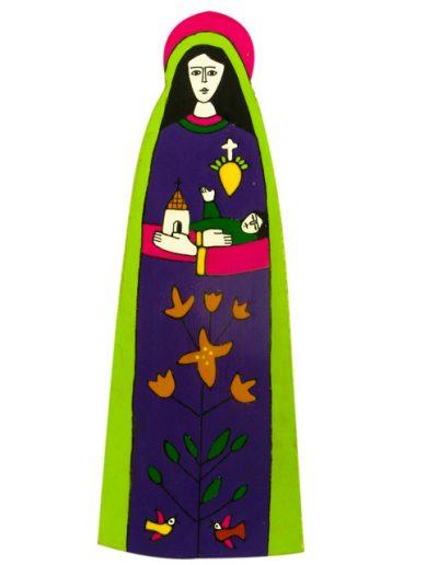 43. Our Lady Plaque  8 x 19cm