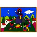 45. Christ with the Children Plaque 17 x 12cm