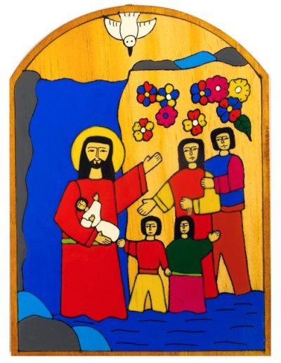 46. Baptism Plaque 14 x 19cm