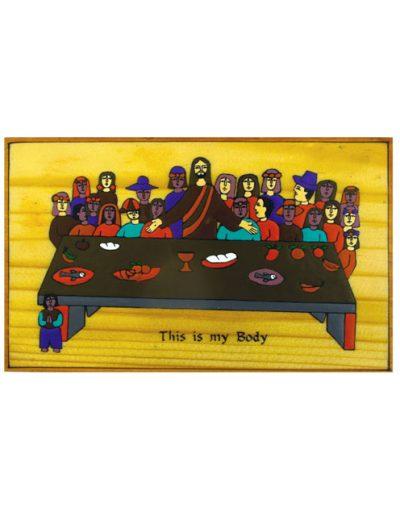 48/32 Last Supper Plaque 20 x 12cm