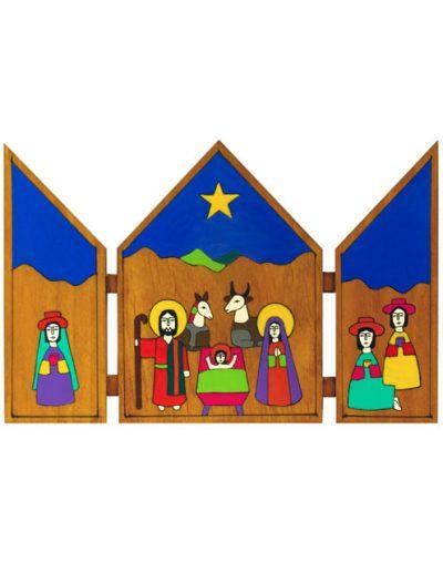 61/32 Triptych Crib 25 x 18cm