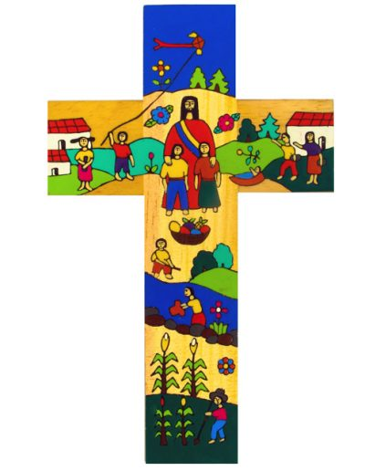 70 Christ in the community cross - Available in 25cm