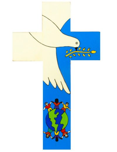 72 Dove of Peace cross - Available in 10cm, 12cm, 25cm