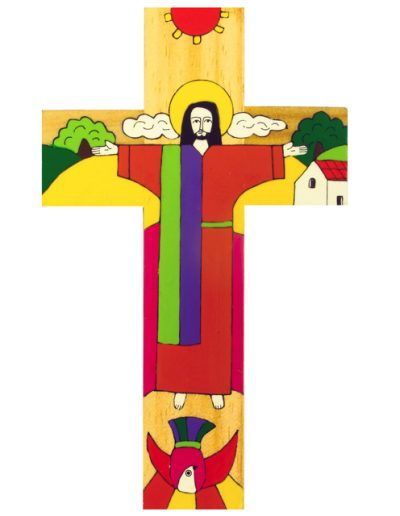76 Christ is risen cross -  Available in 10cm, 25cm