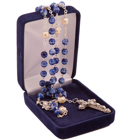 Rosaries in gift cases
